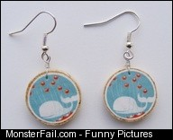Fail whale earrings not on cork tho
