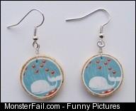 Fail whale earrings not on cork tho