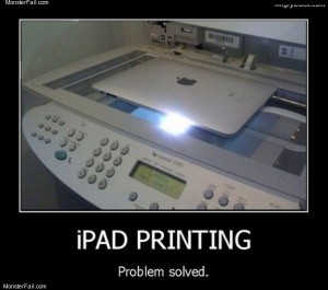 Ipad printing