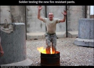 Pics Testing Fire Resist