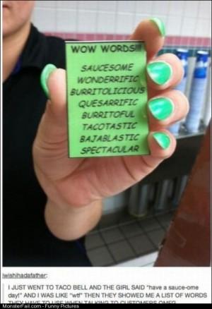 Pics Taco Bell Vocab