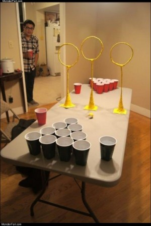 Very advanced beer pong