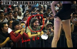 How to draw happiness