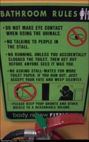 Pics Bathroom Rules