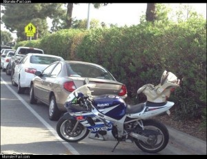 Biker parent fail