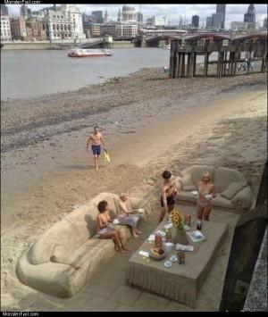 Beach dinner party