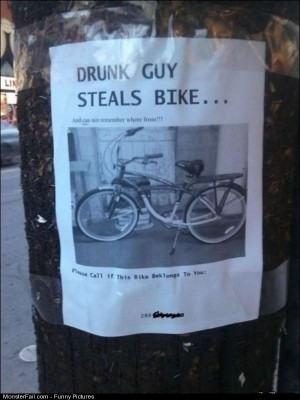 Pics Drunk Guy Steals