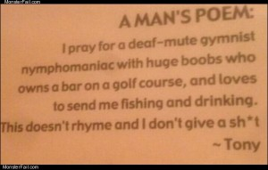 A mans poem
