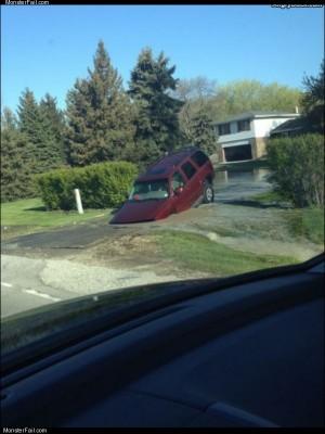 Driveway sink hole