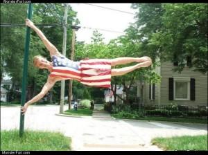 American flag guy