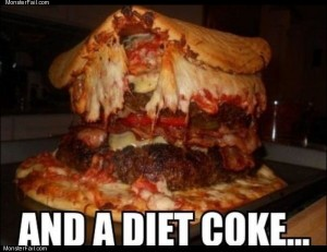 And a diet coke