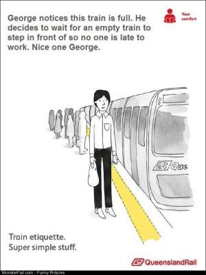 Pics Train Etiquette