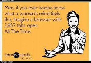 Womans mind