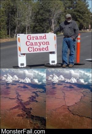Grand Canyon Closed