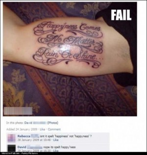 Monster Tattoo FAIL Right Its Spelt