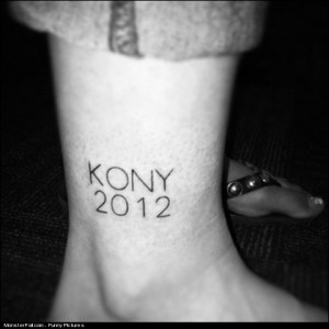 Monster Kony 2012 Tattoo FAIL