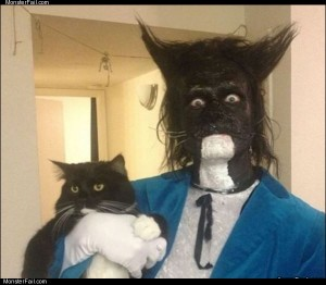 Dressed as his cat