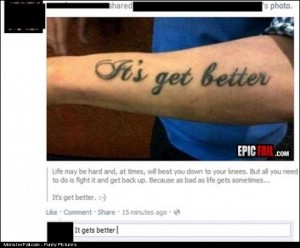 Tattoo Fail Best Comment EVER