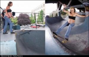Pregnant Skater Girl FAIL