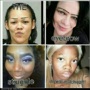 Ladies Dont ever draw on your eyebrows like this