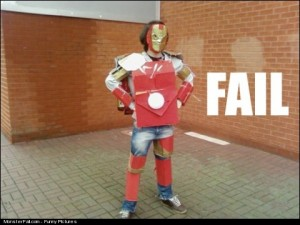 Iron Man Costume FAIL