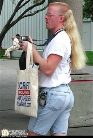Monster Blonde Mullet Hairstyle FAIL