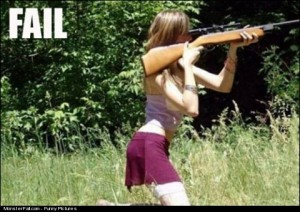 Woman Shooting FAIL