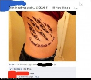 Tattoo Girl Got OWNED