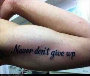 Tattoo FAIL Regrets I Bet He Has One