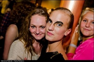 Party Photo FAIL  Nice Eyebrows