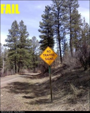 No Traffic Sign FAIL