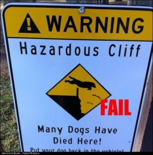 Warning Sign FAIL