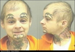 Monster Face Tattoo FAIL
