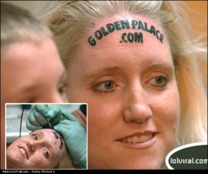 Monster Forehead Tattoo FAIL This Tattoo Is GOLDEN