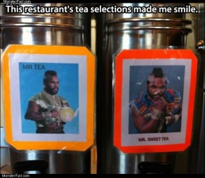 Tea selection