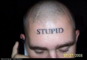 Forehead Tattoo FAIL