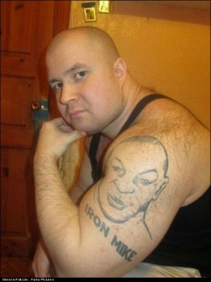 Monster Tough Guy Tattoo FAIL Is This Supposed To Be Mike Tyson