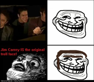 Jim Carrey Is the Troll face