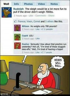 Santa Is Not Very Happy With Facebook