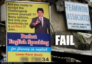 Perfect English Speaking Ad FAIL