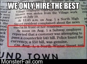 We Only Hire The Best