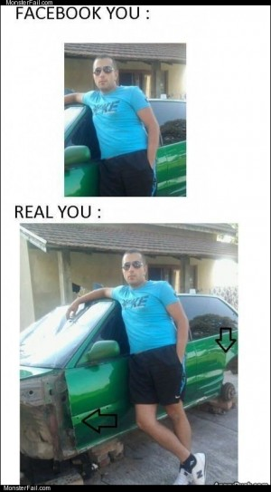 Facebook vs real you