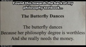 The butterfly dances
