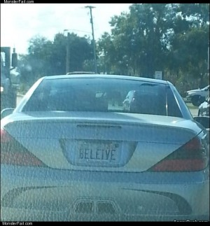 Beleive plate
