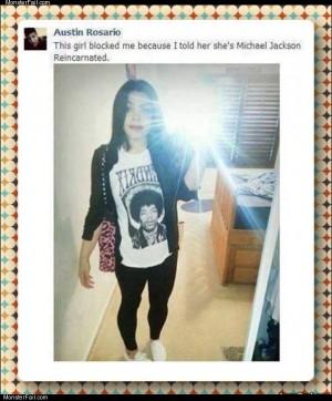 Michael jackson selfie girl