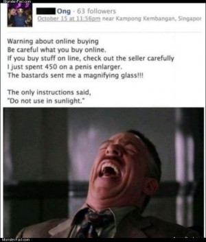 Careful with online purchases