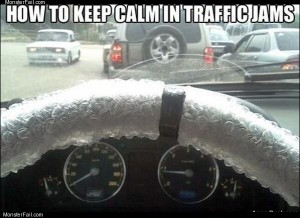 Keep calm in traffic jams