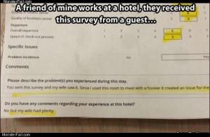 Hotel survey