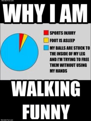 Walking funny