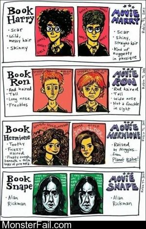 Novel Harry Potter Vs Movie Harry Potter